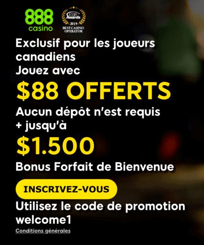888 casino bonus de bienvenue