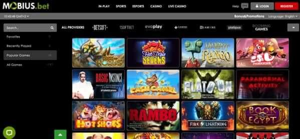 mobius bet casino games