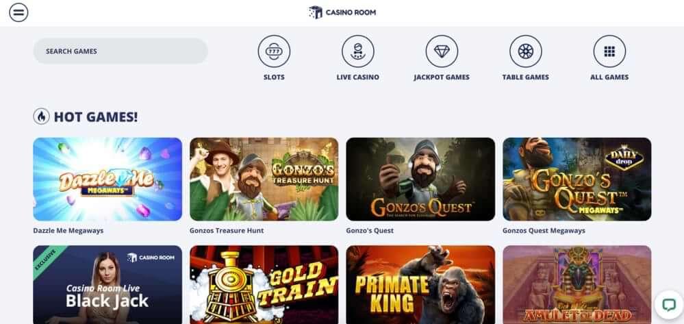 Casino room games
